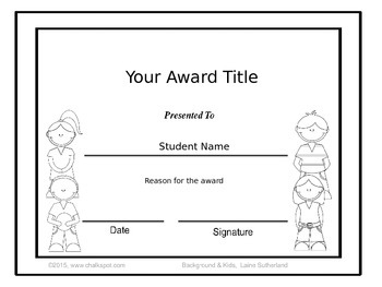 End of The Year Awards: Editable (Black & White)