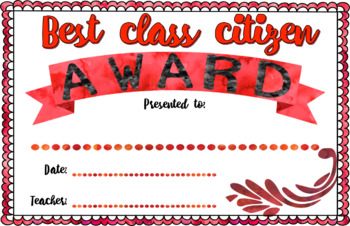 End of Year Awards (Editable) | Watercolor Edition | Positive Awards | All ages