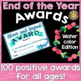 End of the year awards editable - Positivity edition