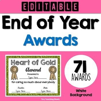 End of Year Awards Editable (white background)