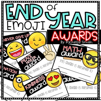 End of Year Awards {Emoji Themed}
