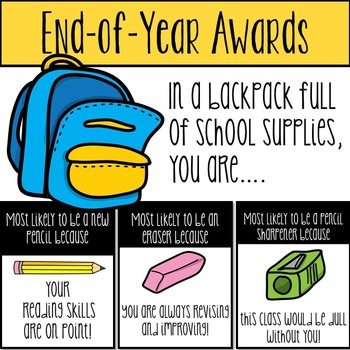 End of Year Awards, End of Year Superlatives, End of Year Fun