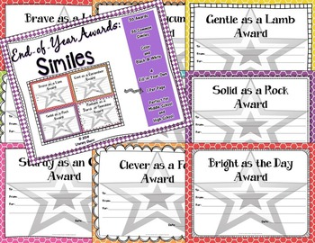 End of Year Awards: Figurative Language BUNDLE --> 1-per-page