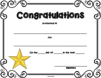 End of Year Awards - Freebie