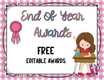 End of Year Awards-Freebie