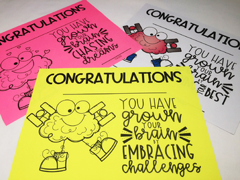 Growth Mindset Awards End of Year  Editable