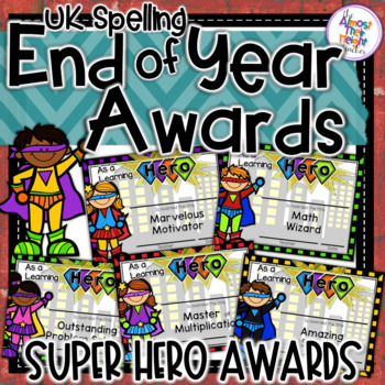 End of Year Awards - Hero Themed - UK Spelling