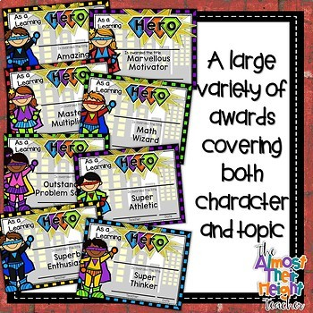 End of Year Awards - Hero Themed - UK Spelling