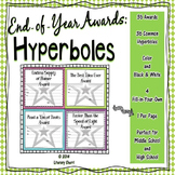 End of Year Awards: Hyperboles --> 1-per-page (Grades 5, 6, 7, 8)