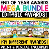 End of Year Awards Editable Certificates Mega Bundle!