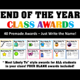 End of Year Awards - Most Likely- Classroom Awards for End