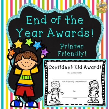 End of Year Awards!  Over 60 to pick from!  Printer Friendly!