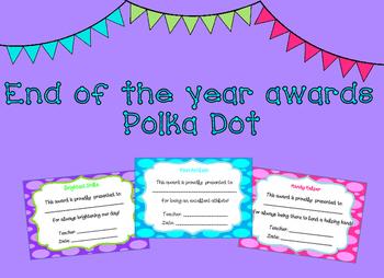 End of Year Awards Polka Dot