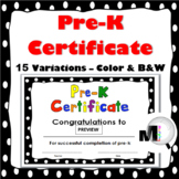 End of Year Awards - Pre-K Certificate