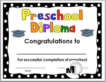 End of the Year Awards - Preschool Diploma