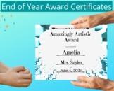 End of Year Class Award Certificates-  Editable Awards