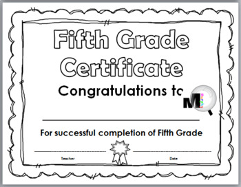 End of Year Awards – Promotion Certificates – Grade 5