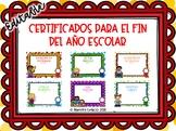 End of Year Awards Spanish (Certificados para el fin del año escolar)