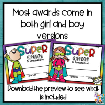 End of Year Awards - 120 Super Hero Themed Awards - (second addition)
