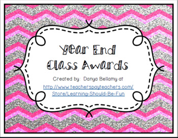 End of Year Awards (Teacher & Student Voted)