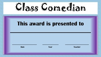 End of Year Awards for Elementary