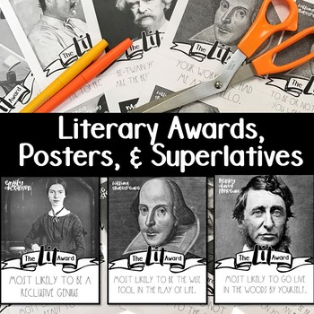 Literary End of Year Awards and Posters: Superlatives for Secondary Students