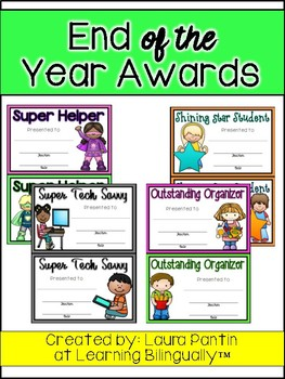 End of Year Awards in English (Version 1)