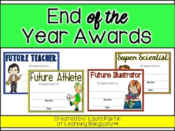 End of Year Awards in English (Version 2)