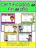 End of Year Awards in Spanish (Version 1)