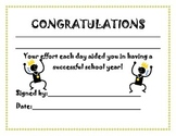 End of Year Awards packet