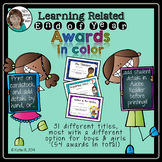 End of Year Awards  Learning Related and EDITABLE
