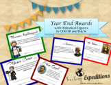 EDITABLE Character Awards - with Historical Figures