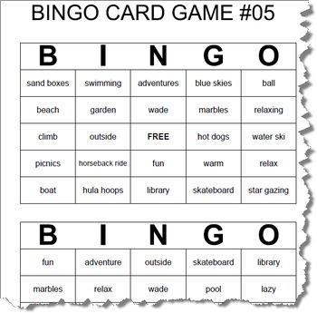 End of Year BINGO   10 BINGO Games   Ages 8+   30 Cards Per Game