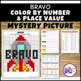 BRAVO Color by Number and Place Value Mystery Picture with