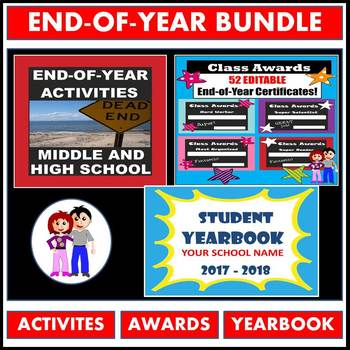 End of the Year BUNDLE! 3 PRODUCTS: Activities, Yearbook a