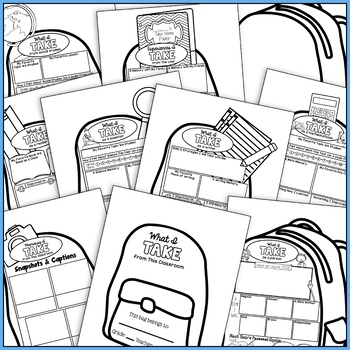 End of Year Backpack Book: End of Year Reflection, End of Year Activity