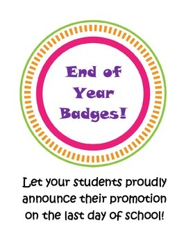 End of Year Badges
