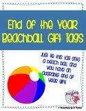 End of Year Beach Ball Student Gift Tag