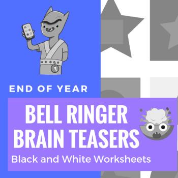 Bell Ringer Brain Teasers - Black and White Worksheets