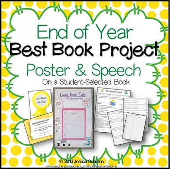 """End of Year """"Best Book Project"""" - Poster & Speech on Student-Selected Book"""