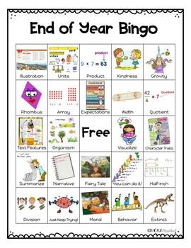 End of Year Bingo   3rd Grade