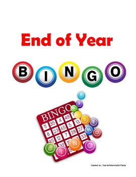 End of Year Bingo