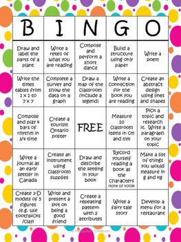 End of Year Bingo Review Activities Grade 3