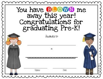 End of Year Award Blow Pop or Gum Graduation Certificate {Editable}