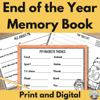 photo regarding Printable Versions named Conclude of Yr Memory Guide ~ No Prep Printable and Electronic Styles