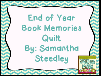 End of Year Book Titles Memory Quilt or Memory Book