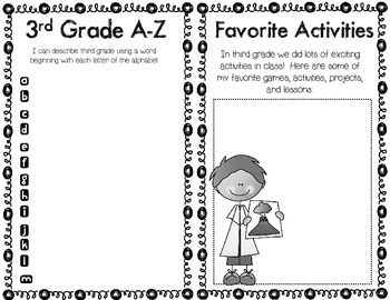End of Year Booklet: Third Grade