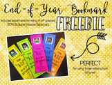End-of-Year Bookmarks Freebie