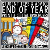 End of The Year Writing Activity Brochure- Advice for Next Year's Students