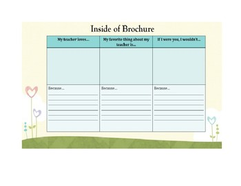 End of Year Brochure for Students Template